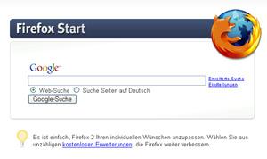 Google Firefox Start