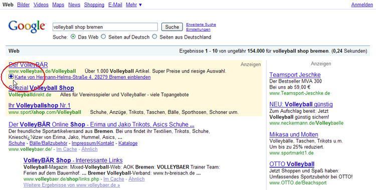 Google Adwords PlusBox Beispiel 1
