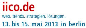 iico 2013 - 13. bis 15. Mai in Berlin