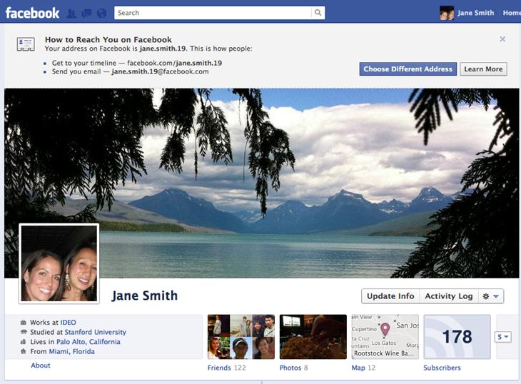 Beispielprofil bei Facebook