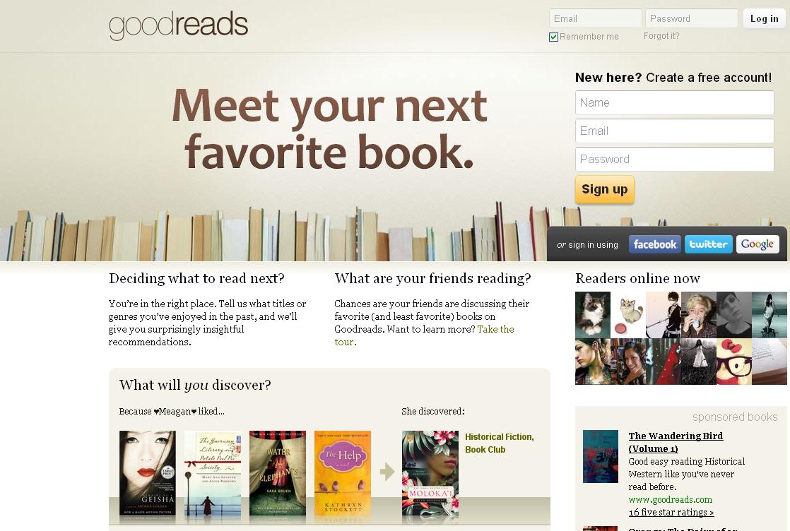 Begrüßung bei Goodreads