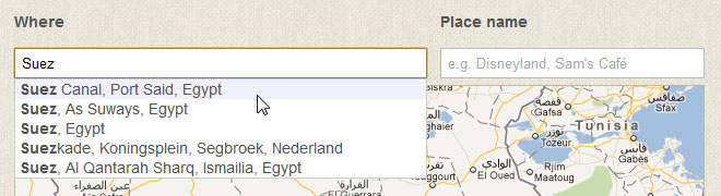 Pinwheel Autocomplete Google Places API
