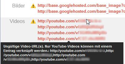 Fehler im neuen Google Places Bulk Upload