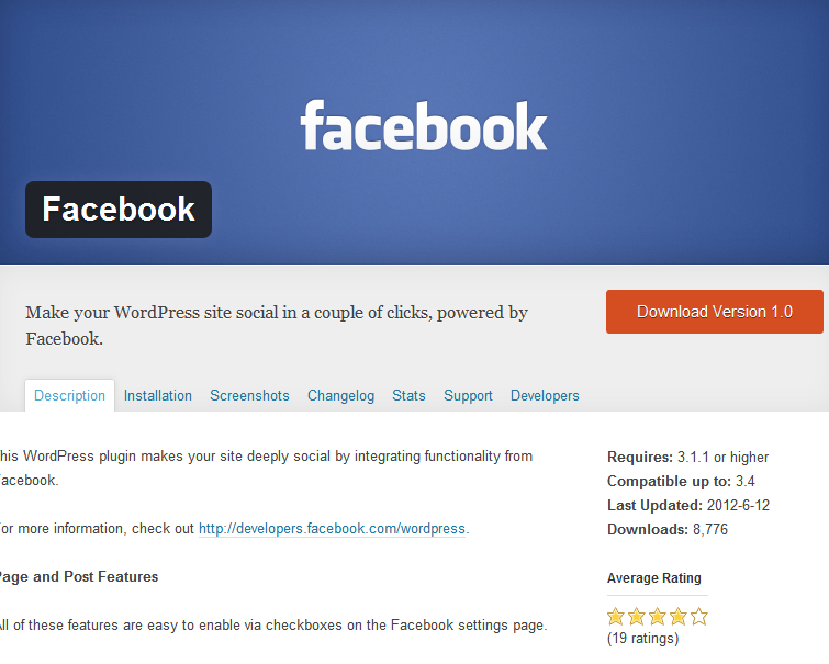 Facebook-Plugin für WordPress