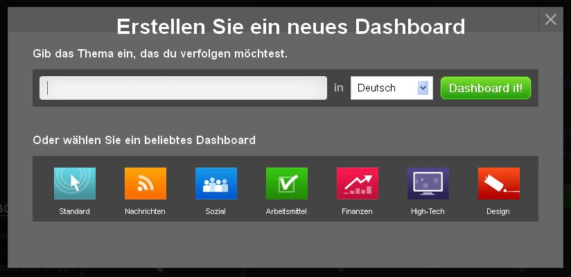 Monitoring Dashboard in Netvibes erstellen