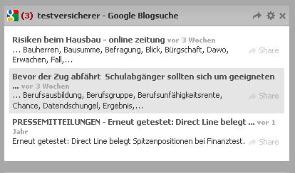 Widget Google Blogsuche