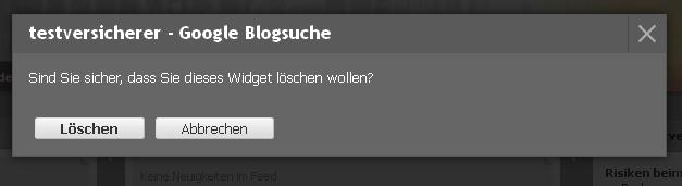 Widget speichern Google Blogsuche