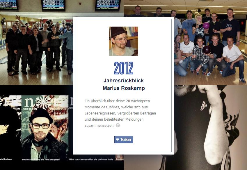 So oder ähnlich präsentiert sich Facebooks Jahresrückblick. (Quelle: Facebook.com)