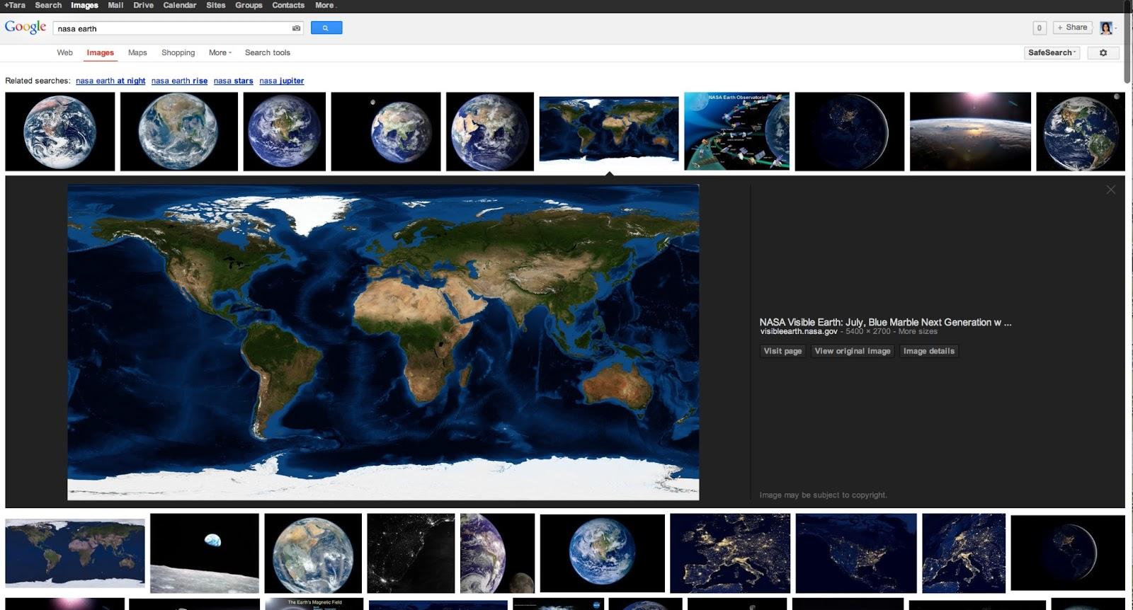 Neues Design der Google Bildersuche