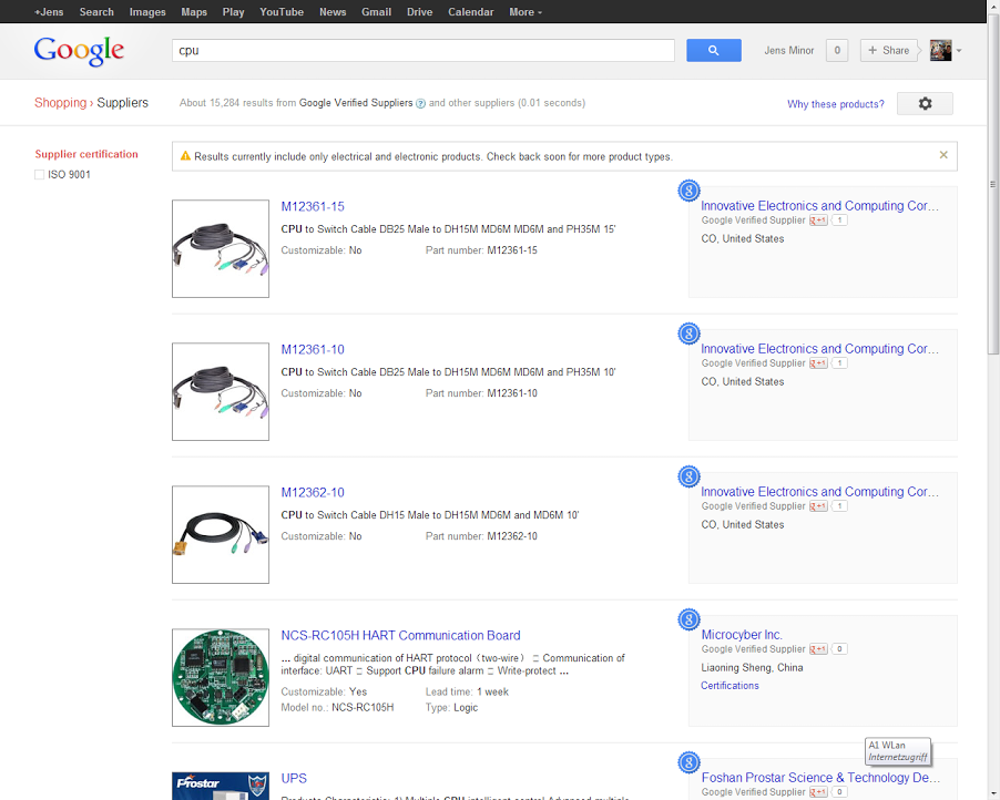 Google Shopping for Suppliers