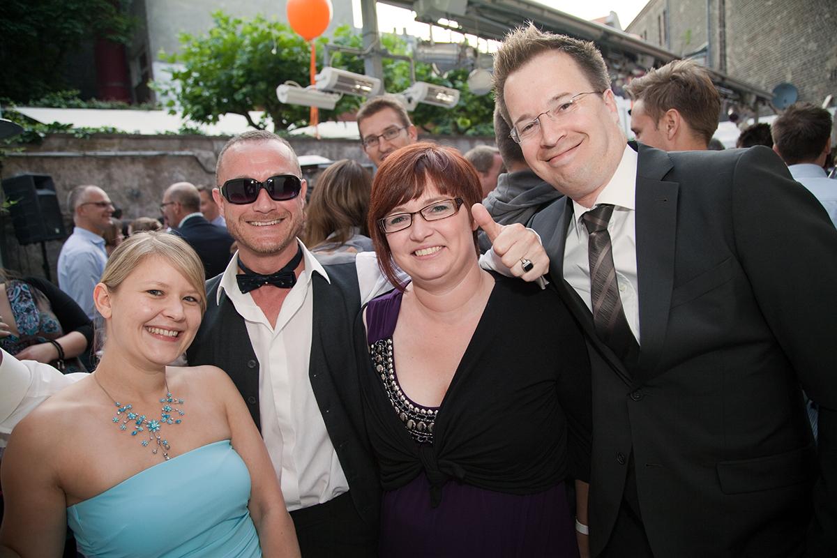 v.l.: Jennifer Jung (trafficmaxx), Mario Rimbach (congstar), Verena Dorausch (Alpha9), Jan Schweder (trafficmaxx)