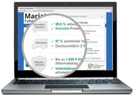 Google: Zertifizierte Händler