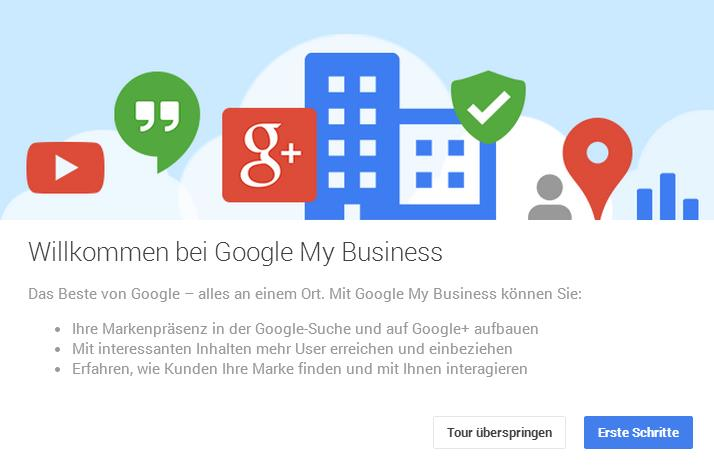 Google My Business Tour Start