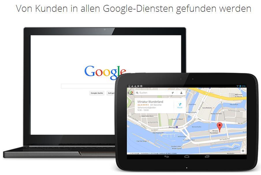 Google My Business Gefunden werden