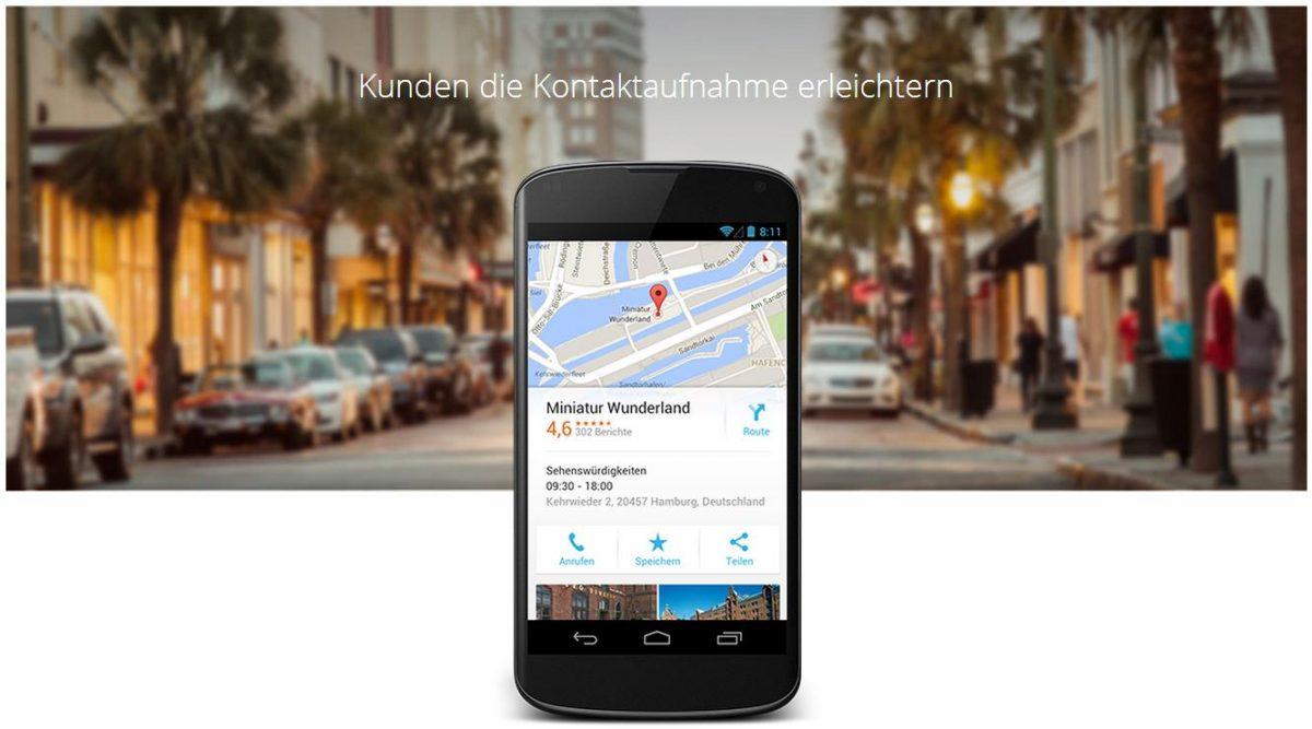 Google My Business Kundenkontakt