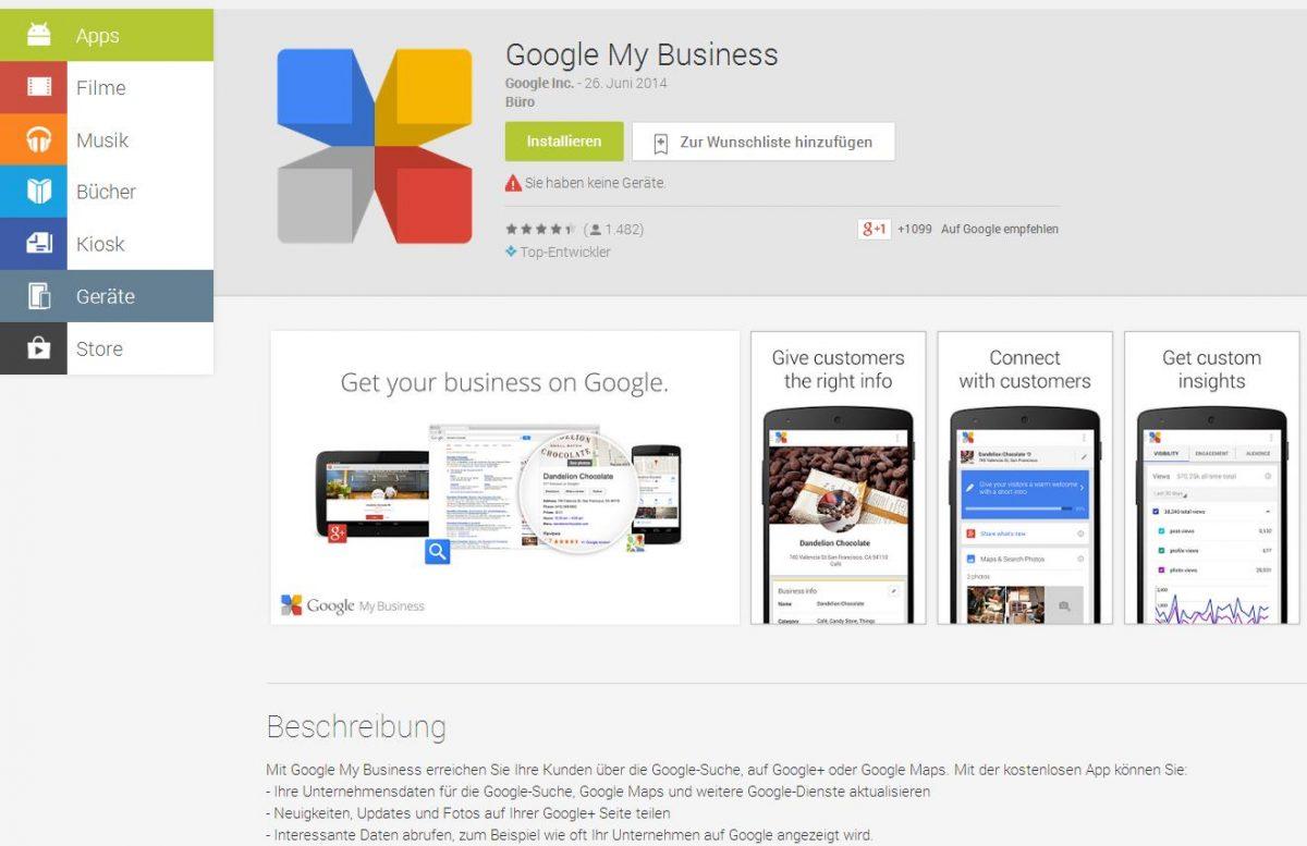 Google My Business Google Play