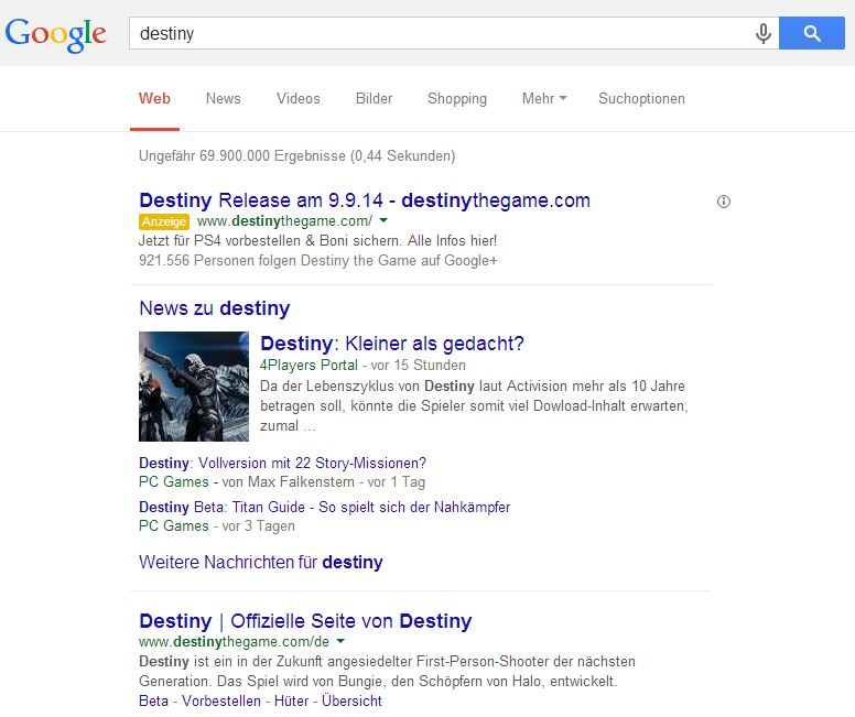 SERPS: Destiny