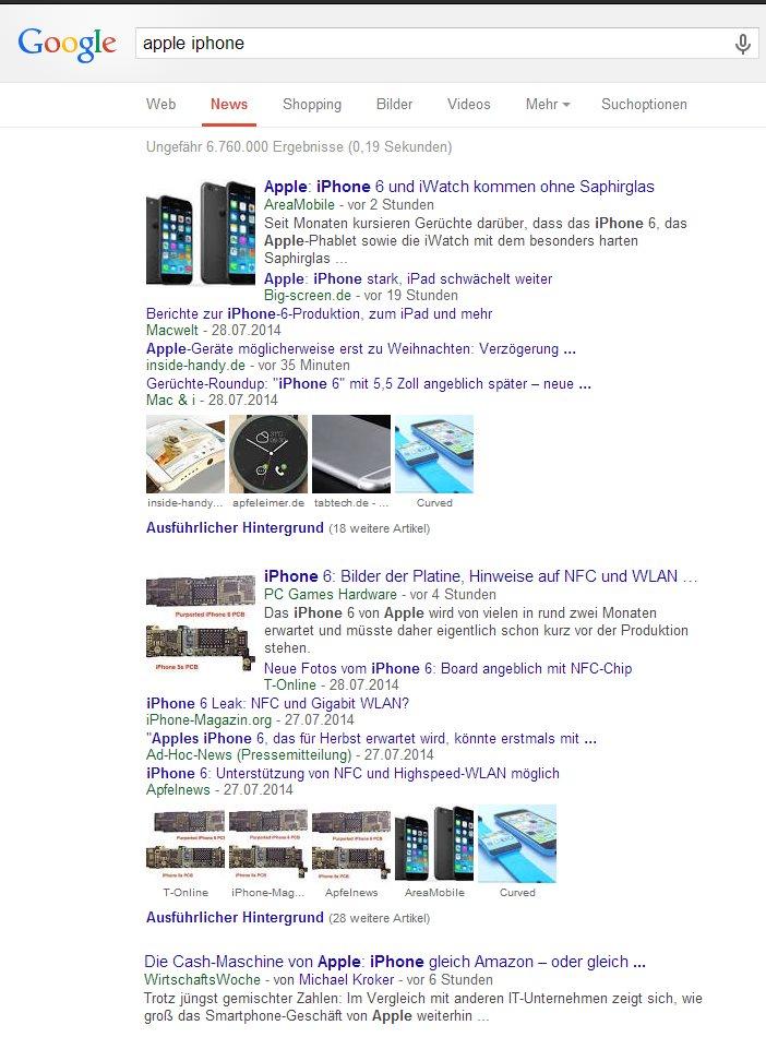 Google News Navigation
