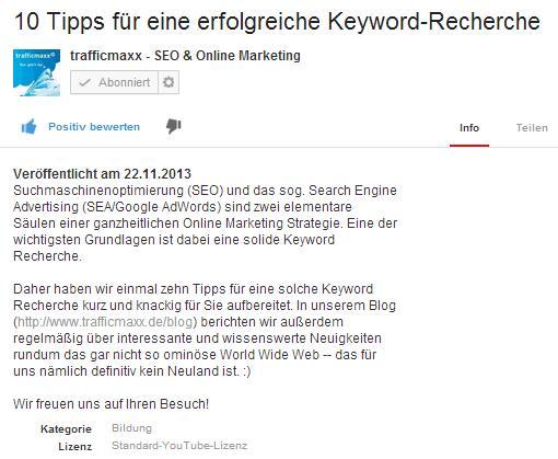 Screetshot 10 Tipps für eine erfolgreiche Keywordrecherche