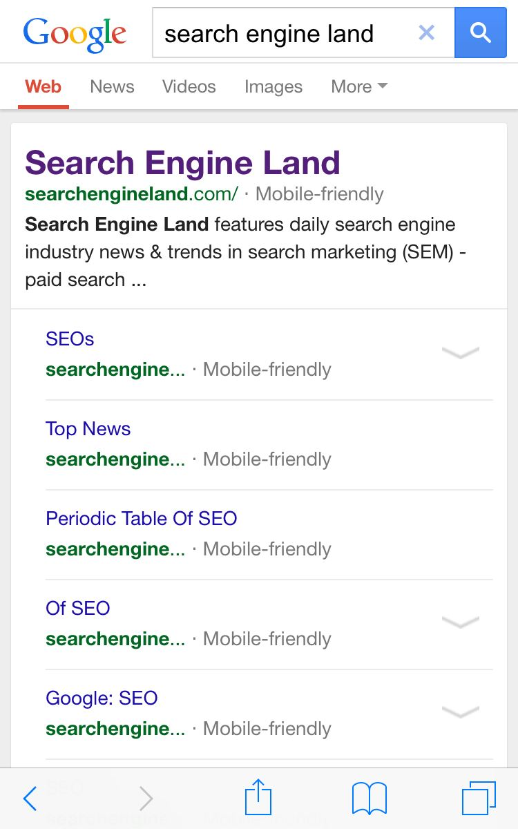 Google: Mobile friendly SERPs