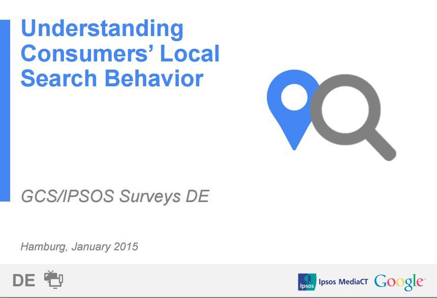 Google Studie Local Search 2015: Titelbild