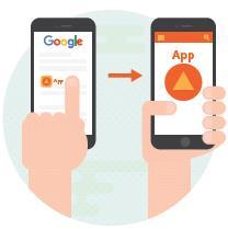App-Indexing / Studie von Searchmetrics - Titellogo