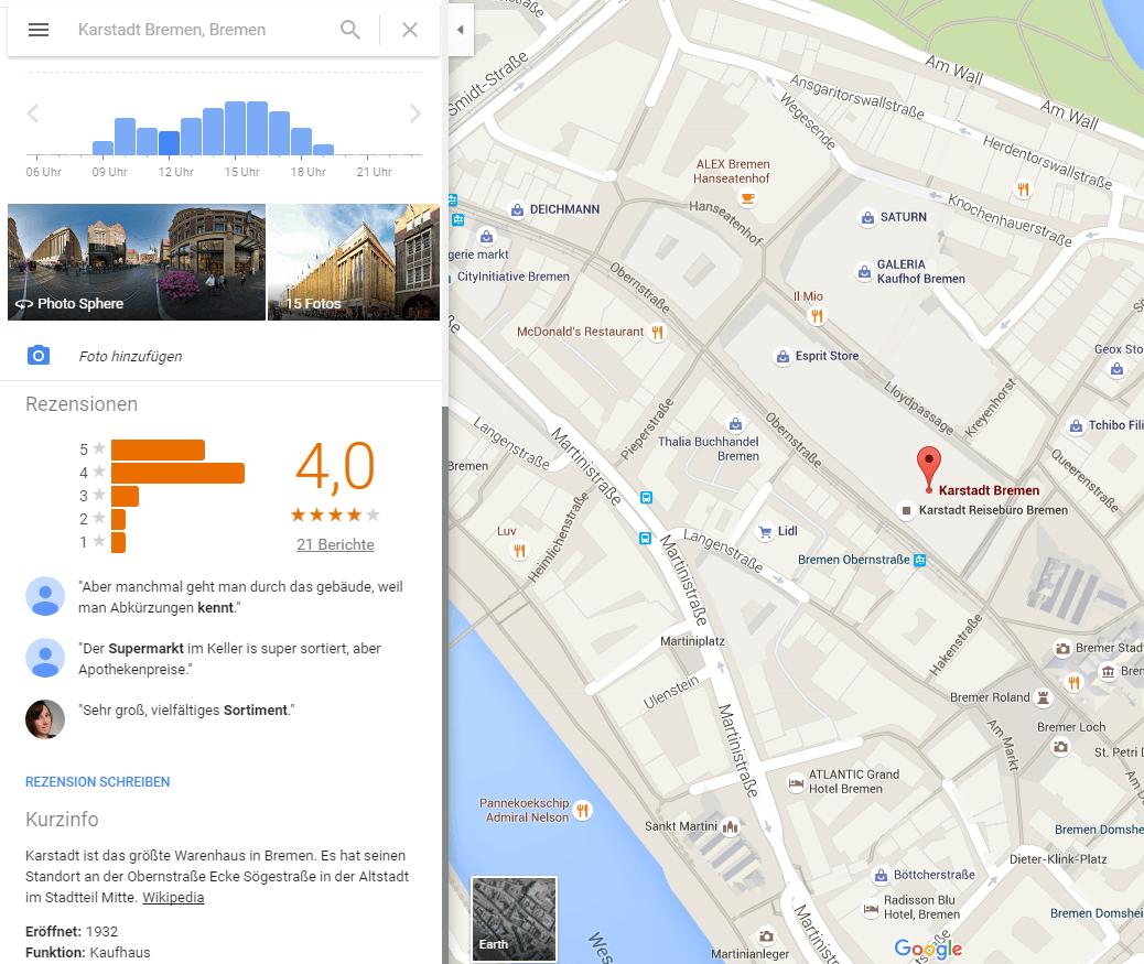 unternehmensbeschreibungen-erfahrungsberichte-googlemaps