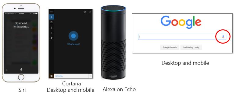 Siri Cortana Alexa Google Now