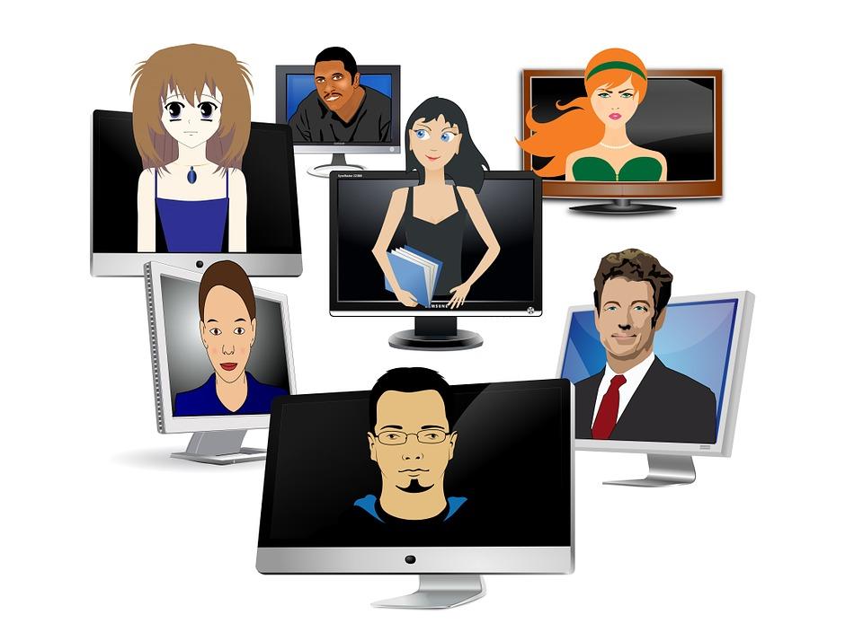 Verschiedenste Internetnutzer