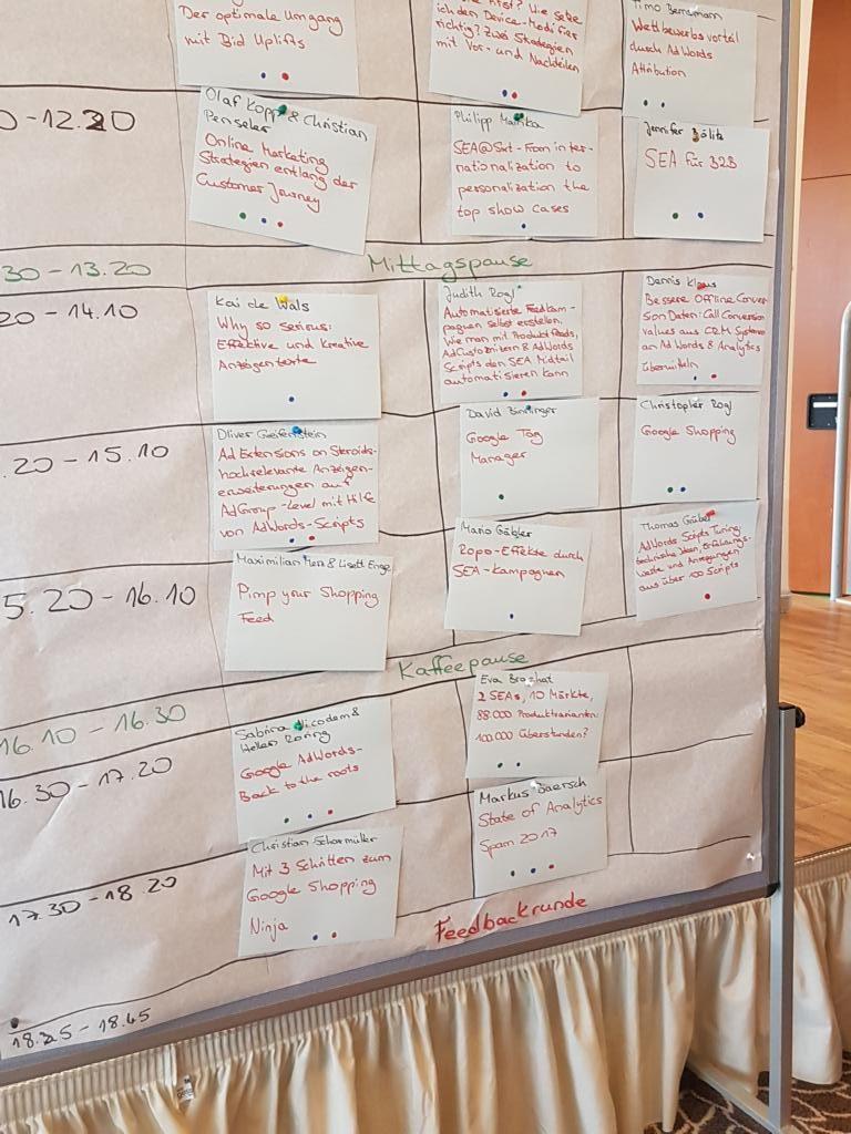 SEAcamp 2017 Ablaufplan