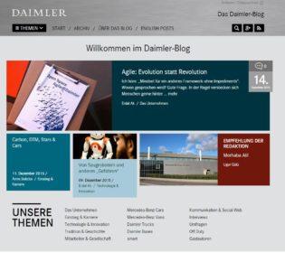 Screenshot Corporate Blog Daimler Benz 2015