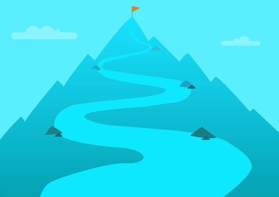 destination ziel berg spitze erfolg success