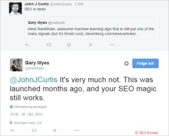 Garry Illyes Tweet zum RankBrain