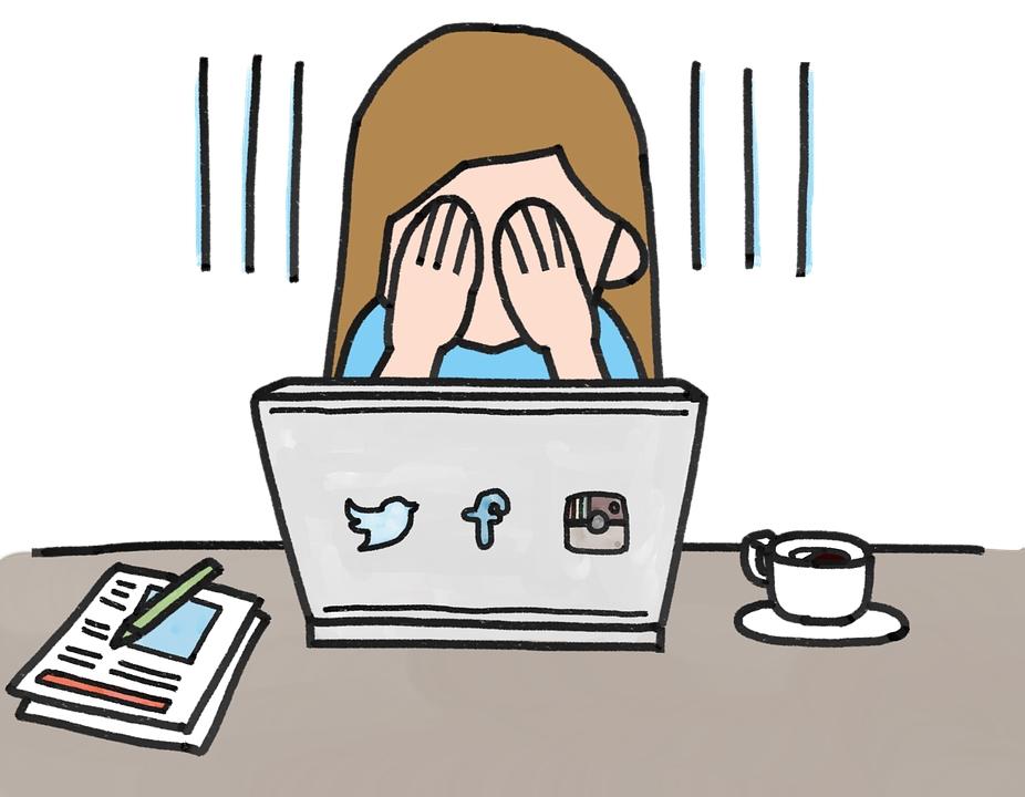 social media no luck kein glück mädchen laptop notebook e-commerce