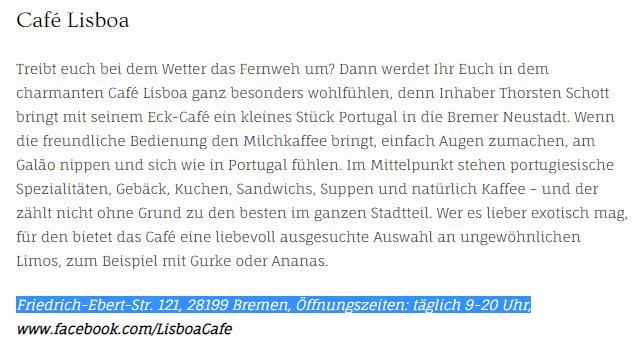 Unstrukturierte Local Citation Quelle: Blog / http://insalohmann.de
