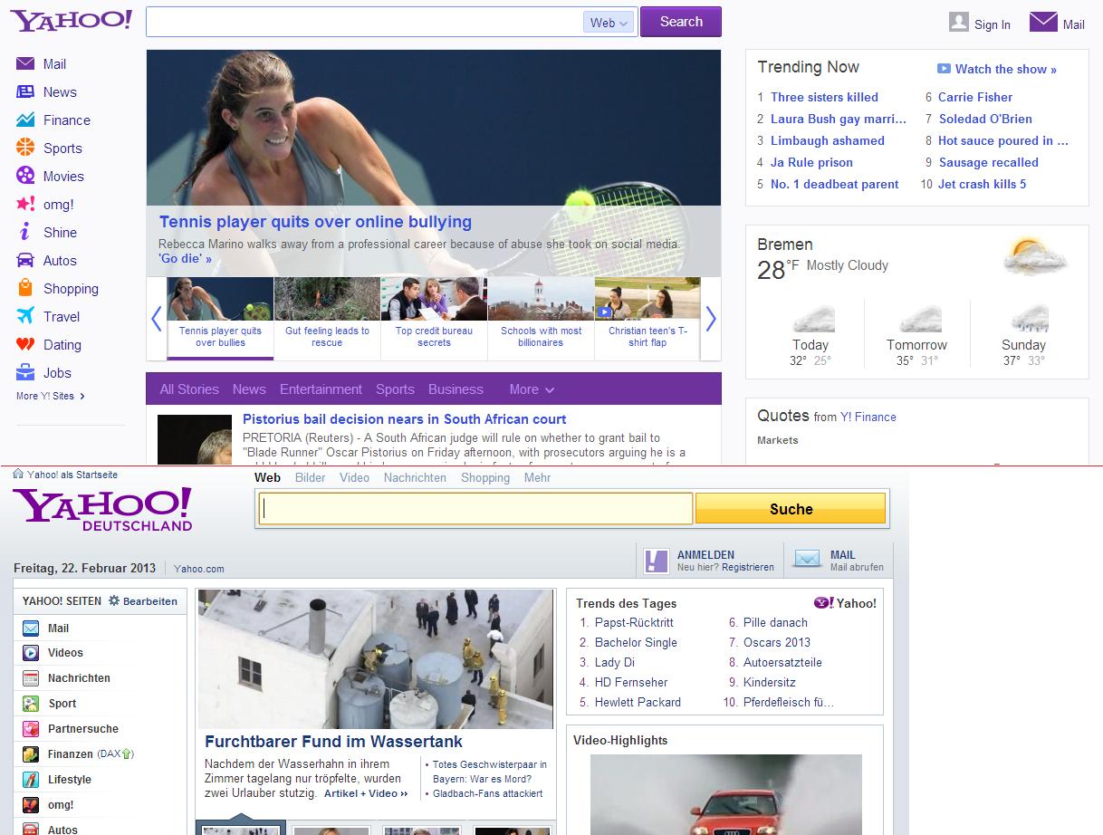 Deutschland anmelden yahoo Yahoo Mail