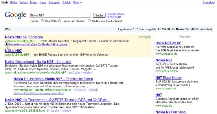 Google Adwords PlusBox Beispiel 3