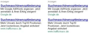 Flexibilität von Google AdWords-Anzeigen