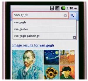 Ausschnitt aus der Google Instant Mobile Suche