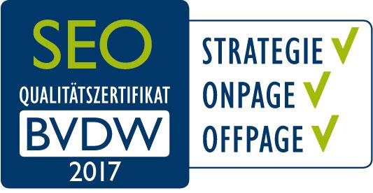 BVDW SEO Qualitätszertifikat 2017
