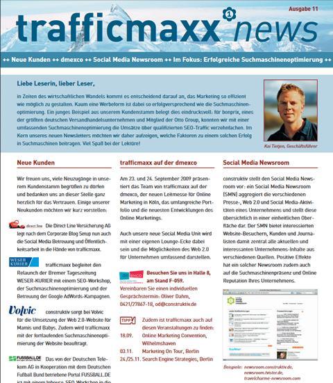 Newsletter 11: Erfolgreiche Suchmaschinenoptimierung