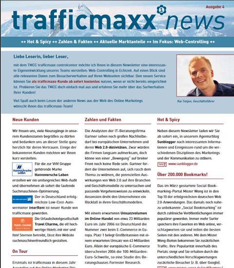 Newsletter 4: Web-Controlling mit dem TMCC