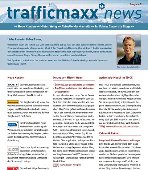 Newsletter 5: Corporate Blogs
