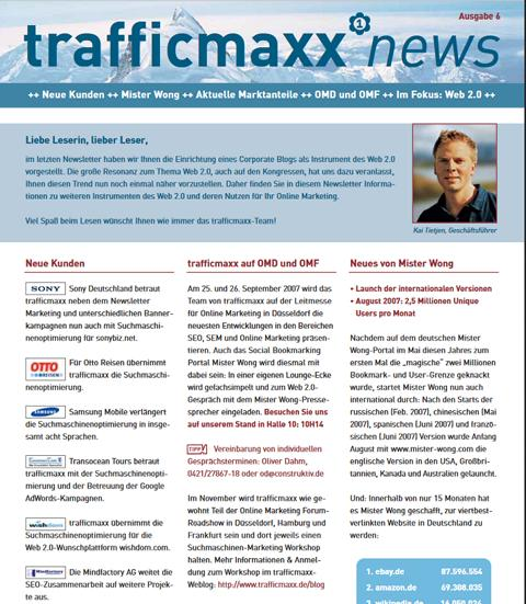Newsletter 6: Instrumente des Web 2.0