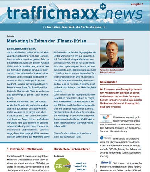 Newsletter 9: Effizienter Vertriebskanal Internet
