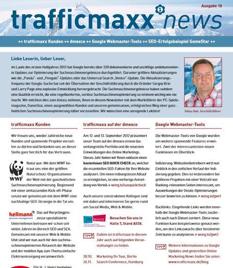 Newsletter 18: Erfolgreiche Suchmaschinenoptimierung