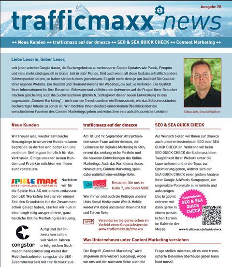 Newsletter 20: Content Marketing – Informieren, Unterhalten, Verkaufen
