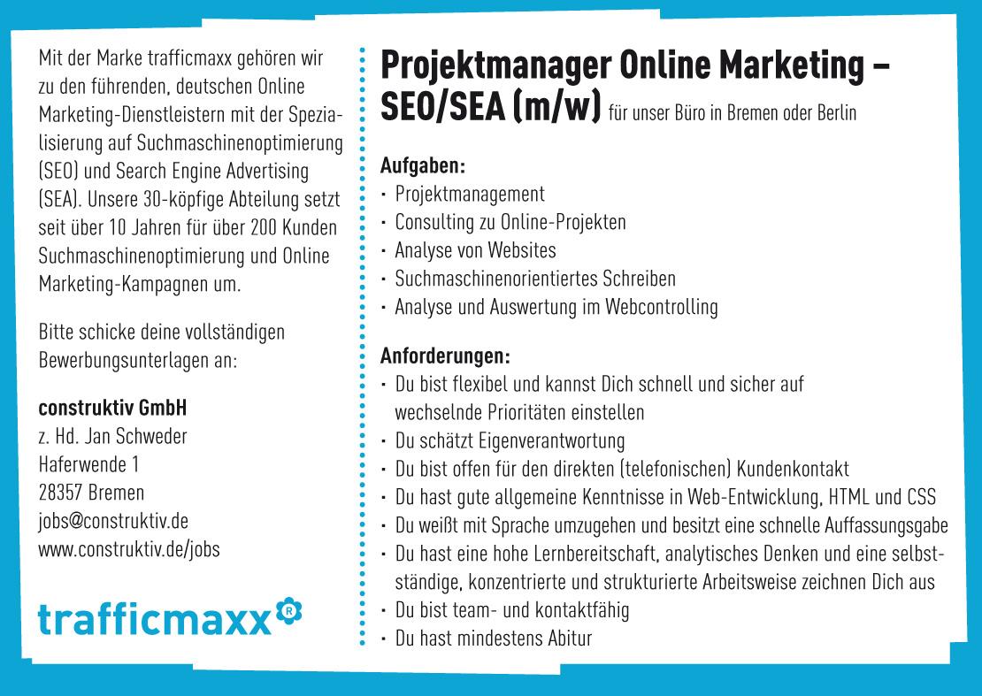 Online Marketing Manager Kosten
