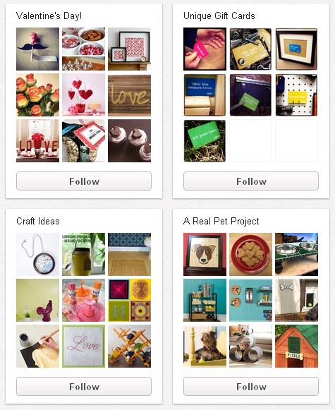 Segmentierte Pinboards auf Pinterest