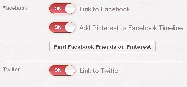 Pinterest Social Media Konfiguration